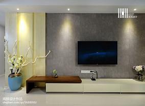 精美103平现代三居效果图片大全三居现代简约家装装修案例效果图