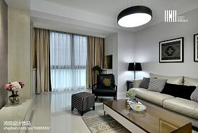 典雅116平现代三居装修图三居现代简约家装装修案例效果图