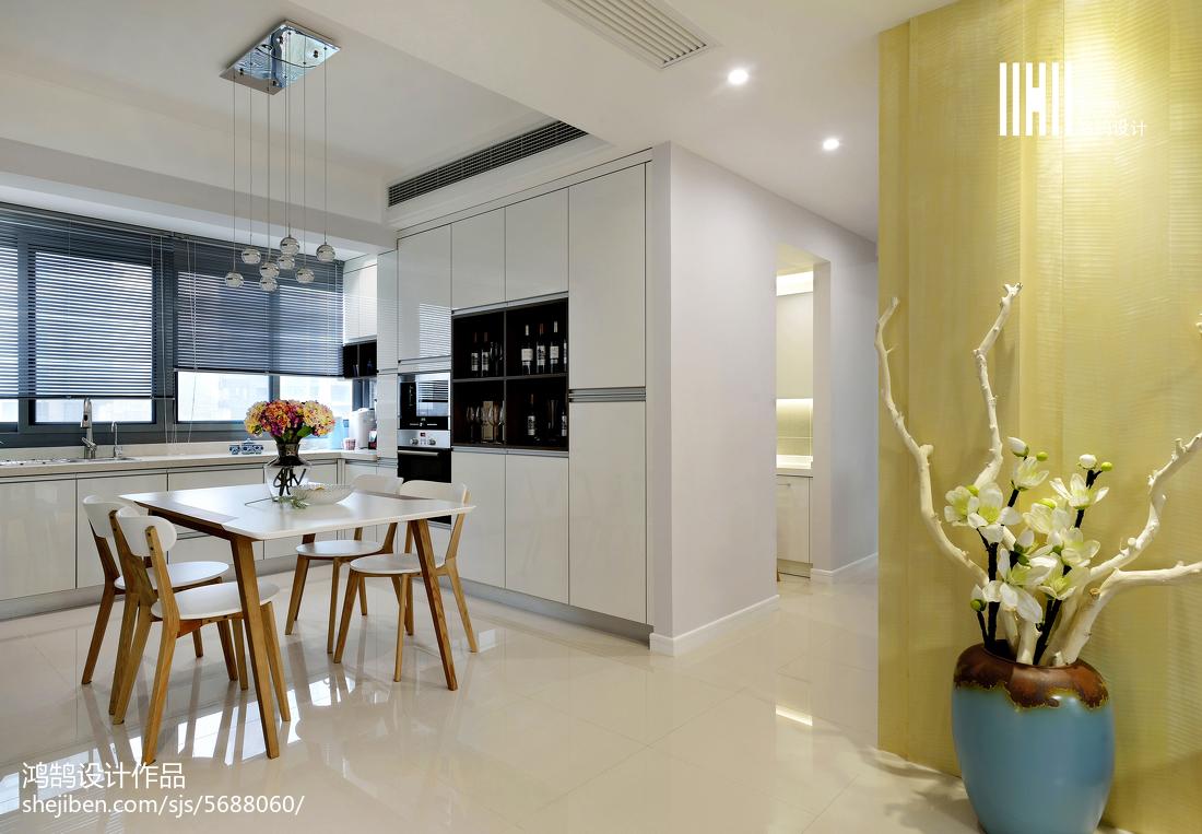 精选108平方三居餐厅现代装修图片欣赏厨房3图现代简约餐厅设计图片赏析