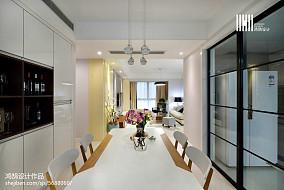 精美大小95平现代三居餐厅效果图片大全三居现代简约家装装修案例效果图