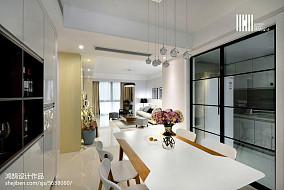 轻奢112平现代三居餐厅效果图片大全三居现代简约家装装修案例效果图