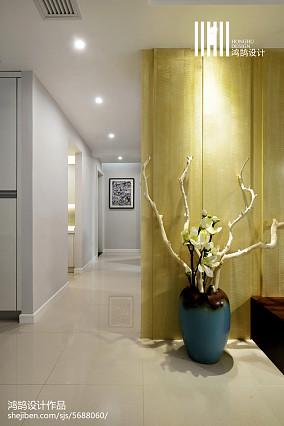 热门92平米三居过道现代装修图片欣赏三居现代简约家装装修案例效果图