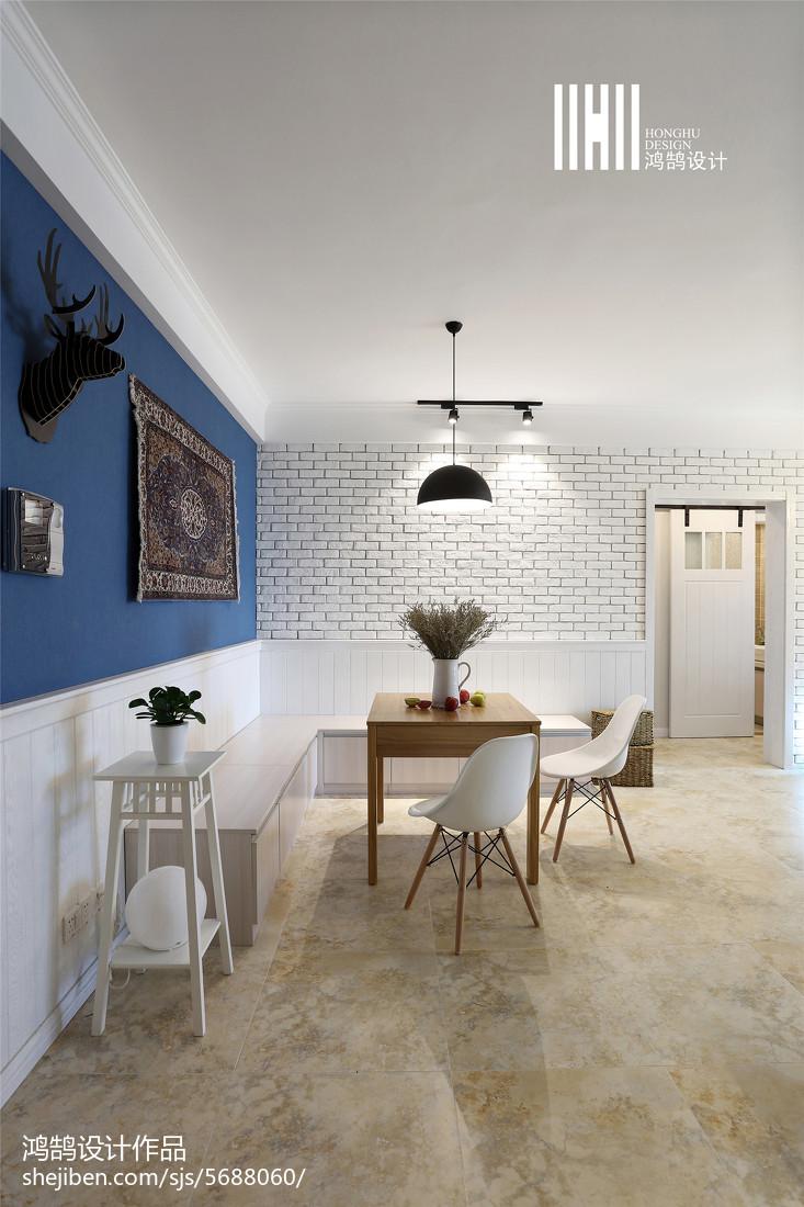 2018面积98平北欧三居餐厅装修实景图厨房北欧极简餐厅设计图片赏析