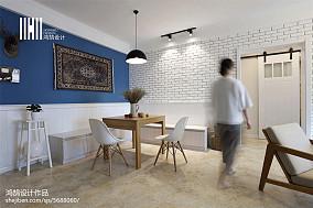 精美大小92平北欧三居餐厅装修实景图片
