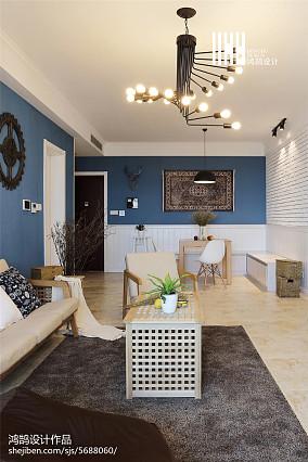 2018精选91平米三居客厅北欧装修设计效果图三居北欧极简家装装修案例效果图