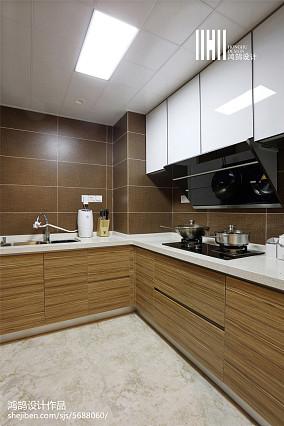 127㎡北欧风格厨房效果图三居北欧极简家装装修案例效果图