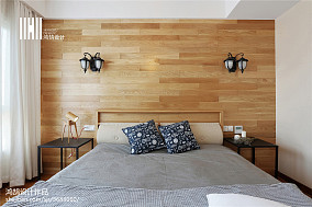 精美92平米三居卧室北欧装修设计效果图三居北欧极简家装装修案例效果图