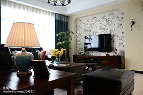 家装美式风格电视背景墙效果图功能区美式经典功能区设计图片赏析