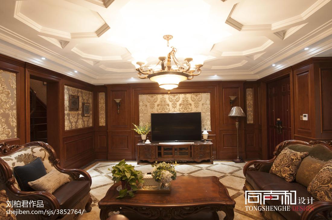 悠雅762平欧式别墅装修美图客厅窗帘欧式豪华客厅设计图片赏析