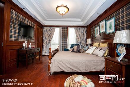 2018面积118平别墅卧室欧式装修图卧室
