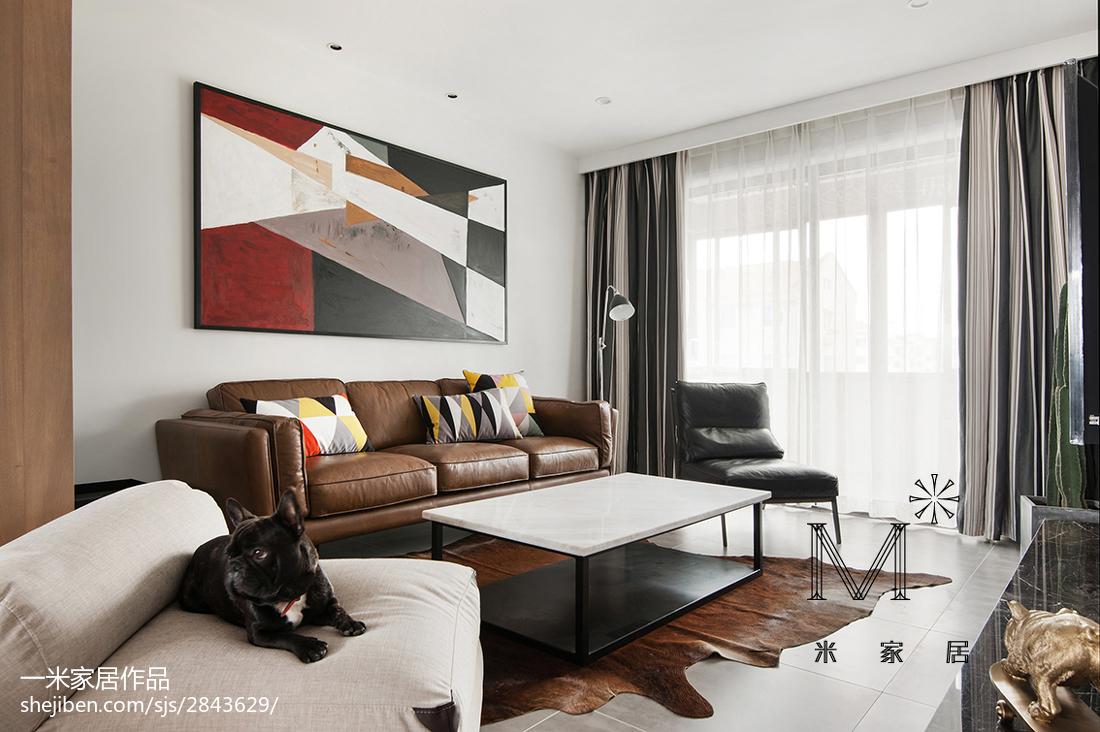 2018大小99平混搭三居客厅欣赏图片大全客厅潮流混搭客厅设计图片赏析