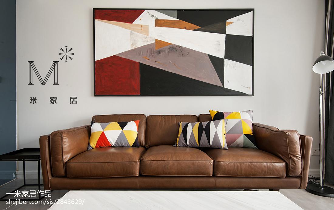 精美109平大小客厅三居混搭装修图片欣赏客厅