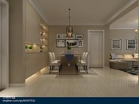 鹿景苑96㎡两室两厅新中式风格装修效果图_2298971