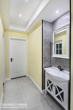家装简约美式卫浴设计二居美式经典家装装修案例效果图