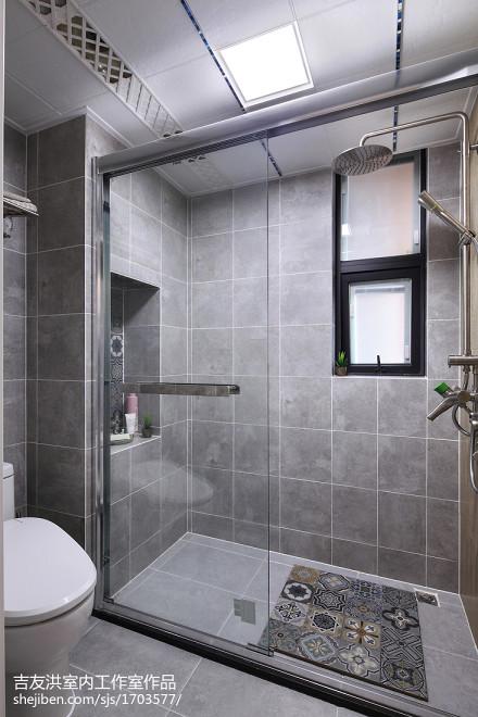 简洁68平美式二居设计美图卫生间