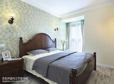 浪漫77平美式二居卧室布置图