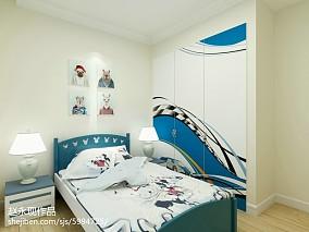 现代家装风卧室效果图