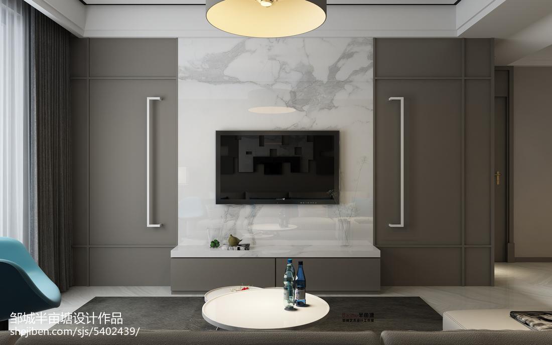 精选瓷砖电视背景墙客厅现代简约客厅设计图片赏析