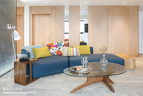 2018面积91平简约三居客厅装修效果图