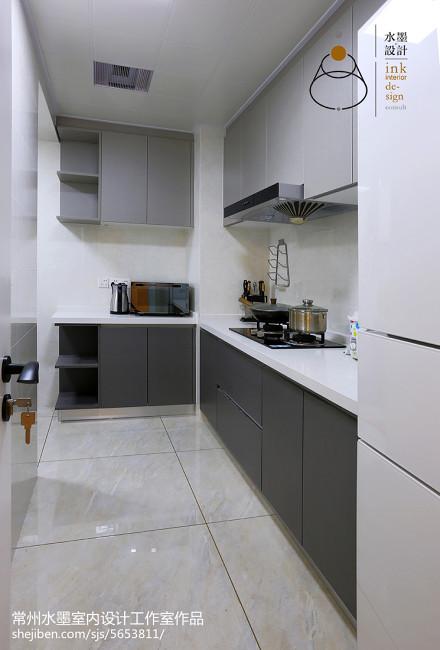 大气93平现代三居厨房效果图