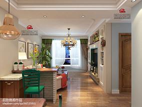 热门86平米美式小户型客厅设计效果图