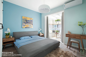 精选96平米三居卧室北欧装修设计效果图片三居北欧极简家装装修案例效果图