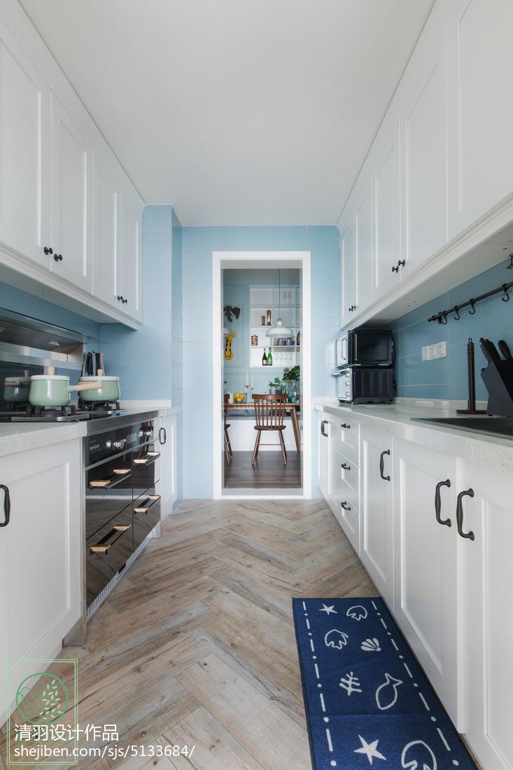 大气93平北欧三居厨房设计图餐厅北欧极简厨房设计图片赏析