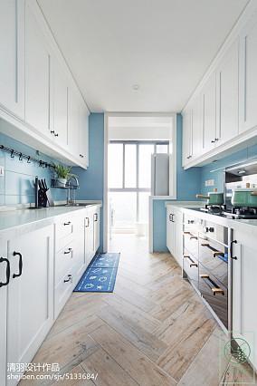 精美面积108平北欧三居厨房装修效果图片三居北欧极简家装装修案例效果图