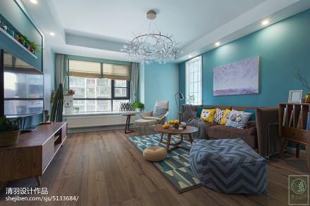 热门面积109平北欧三居客厅装饰图片