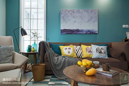 2018精选面积99平北欧三居客厅装修图片欣赏