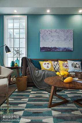 精选99平米三居客厅北欧效果图片三居北欧极简家装装修案例效果图