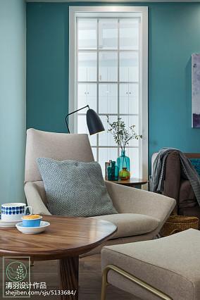 精美93平方三居客厅北欧装饰图片三居北欧极简家装装修案例效果图
