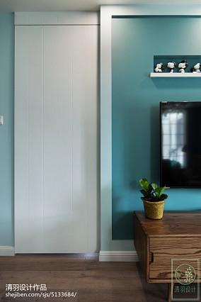 精选面积92平北欧三居客厅装修实景图片欣赏三居北欧极简家装装修案例效果图