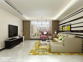 精美93平米三居客厅简约装修图片