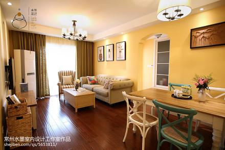 精选小户型客厅美式实景图片大全