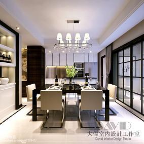 精美面积136平别墅餐厅现代装饰图片