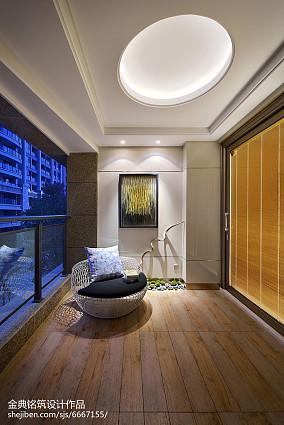 热门中式三居阳台欣赏图片