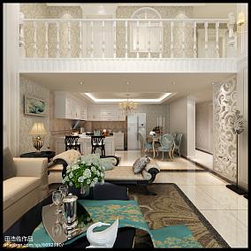 美式古典家居复式设计装修效果图