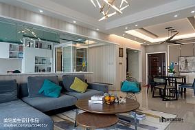 热门面积109平简约三居客厅装修图片大全