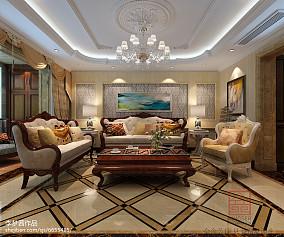 热门100平米三居客厅欧式装修效果图片大全