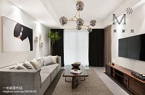 悠雅81平北欧二居客厅效果图欣赏二居北欧极简家装装修案例效果图