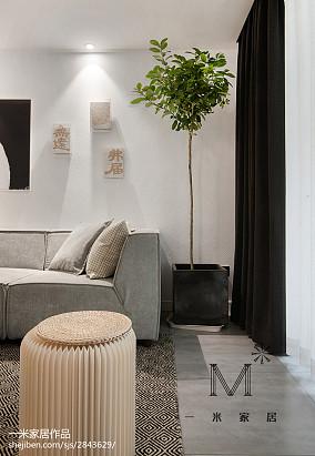 精美84平米二居客厅北欧装修实景图片欣赏二居北欧极简家装装修案例效果图