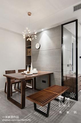 精美88平米二居餐厅北欧装修图片欣赏二居北欧极简家装装修案例效果图