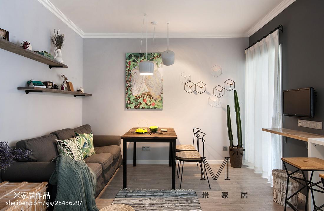 精美38平北欧小户型客厅装饰图客厅北欧极简客厅设计图片赏析