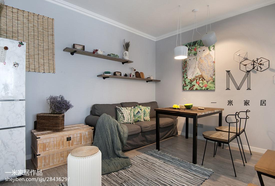 质朴25平北欧小户型客厅设计案例客厅2图北欧极简客厅设计图片赏析
