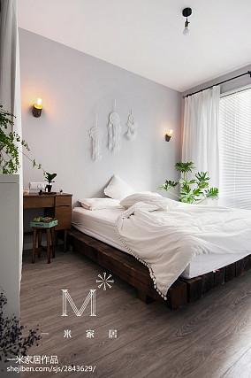 2018精选小户型卧室北欧装饰图片一居北欧极简家装装修案例效果图