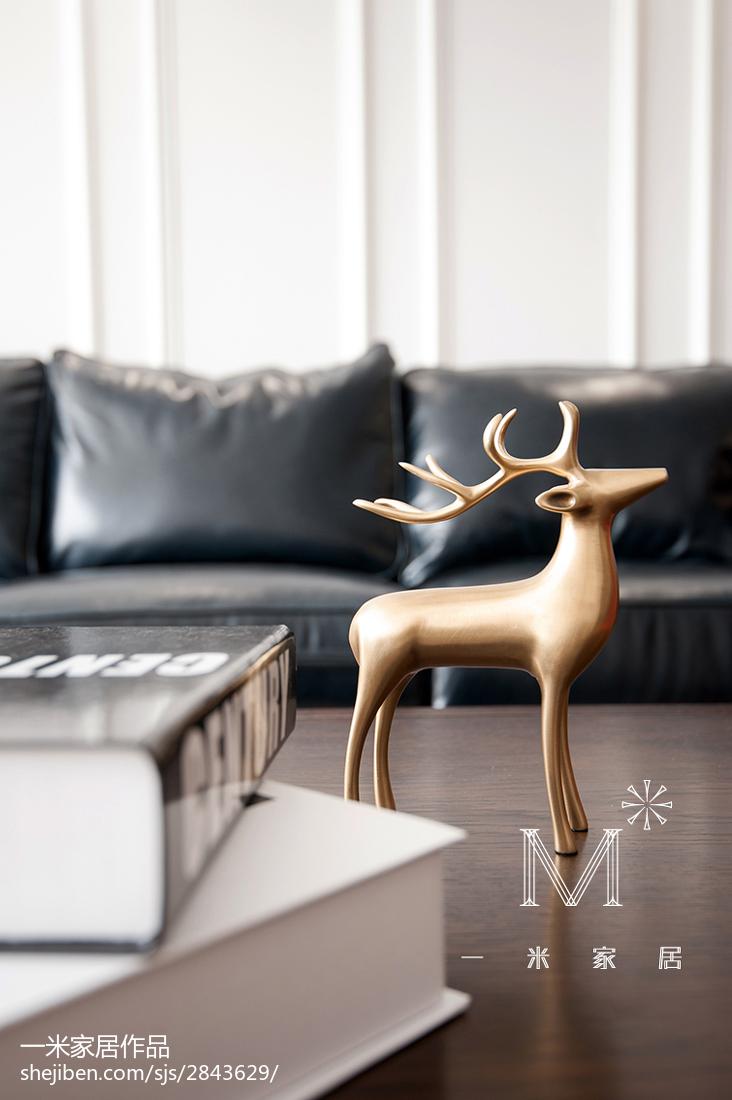 悠雅65平美式二居客厅实景图片设计图片赏析