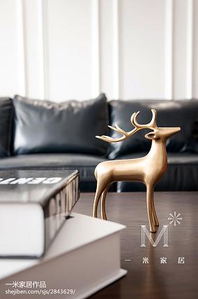 悠雅65平美式二居客厅实景图片