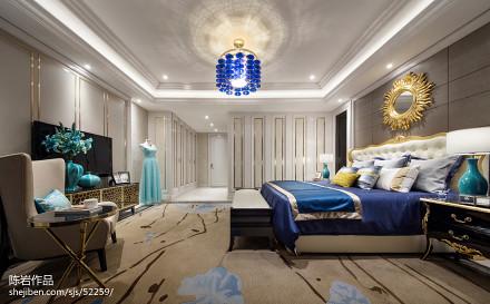 2018精选卧室欧式装修效果图片欣赏样板间欧式豪华家装装修案例效果图