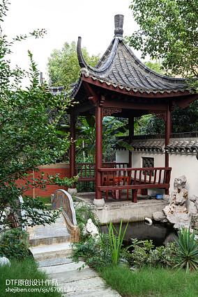 2018面积119平别墅花园中式实景图片欣赏